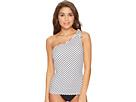 LAUREN Ralph Lauren LAUREN Ralph Lauren - City Stripe Asymmetrical Tie One Shoulder Tankini Top