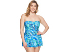 LAUREN Ralph Lauren LAUREN Ralph Lauren - Plus Size Exotic Skirted One-Piece
