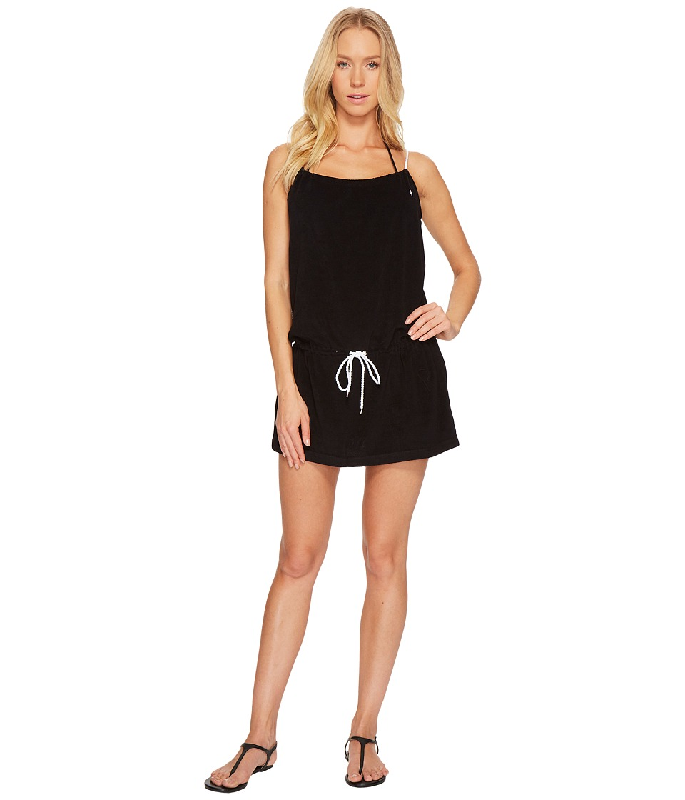 Polo Ralph Lauren Iconic Terry Rope Dress Cover-Up (Black) Women
