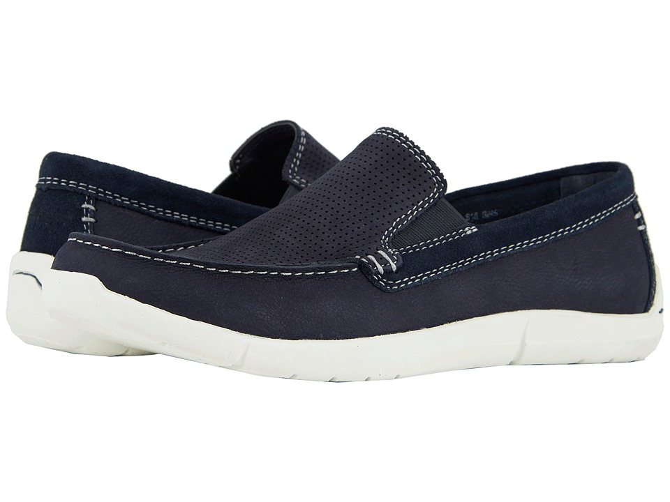 Dockers - Alcove Moc Toe Loafer (Navy Tumbled Nubuck) Mens Shoes