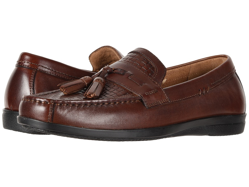 Dockers - Manheim Tassel Loafer (Antique Brown Burnished Full Grain/Woven Embossed) Mens Shoes
