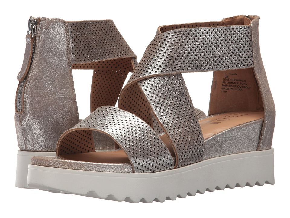 Steven NC-Klein Wedge Sandal (Metallic Leather) Sandals