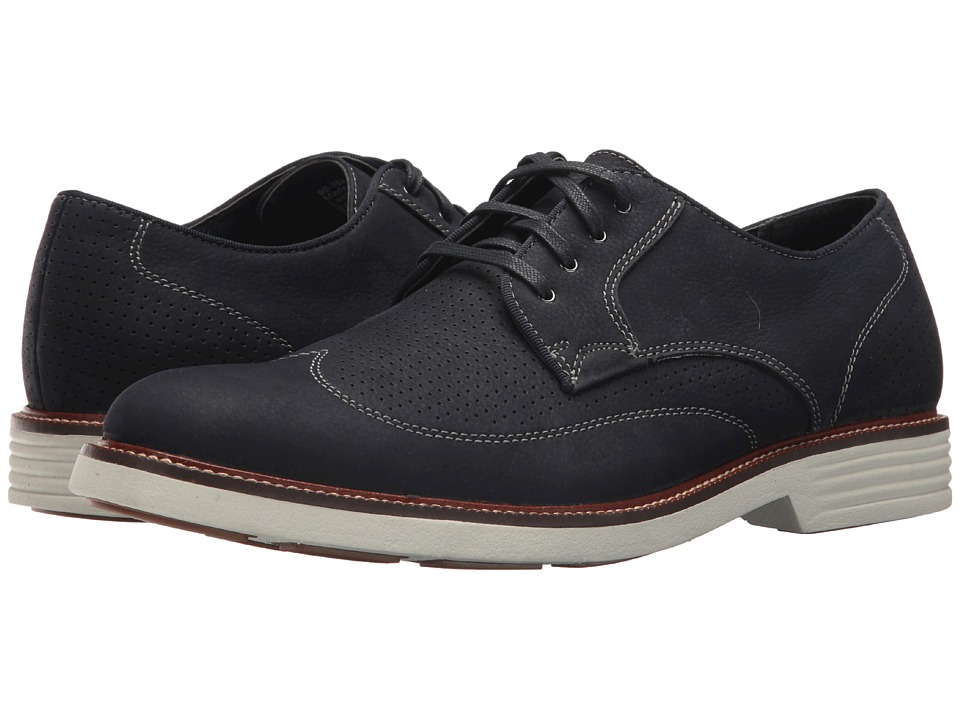 Dockers - Monticello Wingtip Oxford (Navy Tumbled Nubuck) Mens Shoes