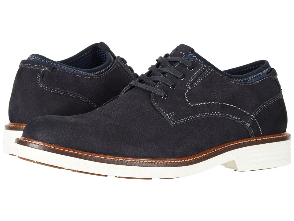 Dockers Parnell Alpha Plain Toe Oxford (Navy Suede) Men