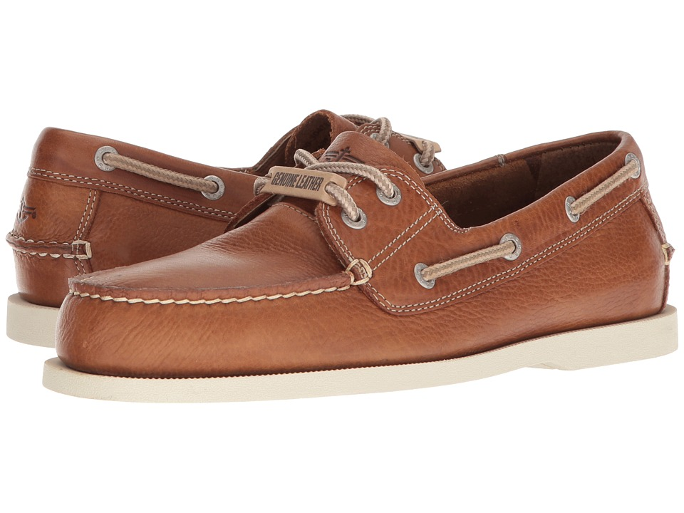 Dockers - Vargas Boat Shoe (Dark Tan Oiled Tumbled Full Grain) Men's Lace up casual Shoes