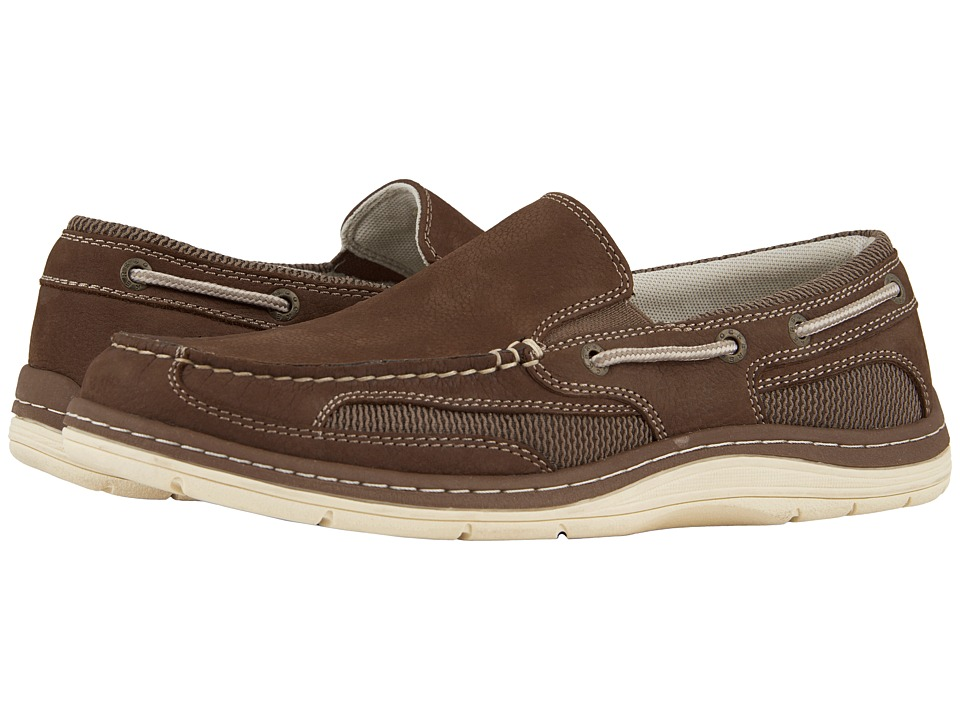 Dockers Danby Boat Shoe (Dark Taupe Tumbled Nubuck) Men