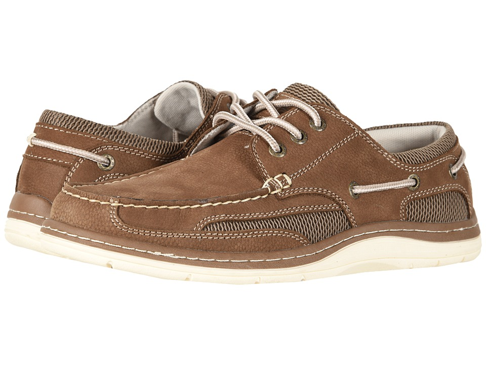 Dockers Lakeport Boat Shoe (Dark Taupe Tumbled Nubuck) Men