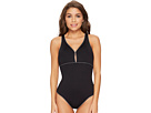 LAUREN Ralph Lauren LAUREN Ralph Lauren - Beach Club Piped Keyhole One-Piece