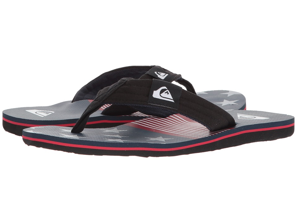 Quiksilver - Molokai Layback (White/Red/Blue) Mens Sandals