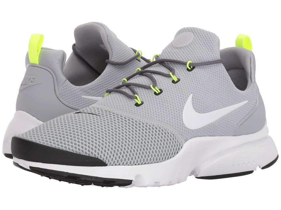 Nike - Presto Fly (Wolf Grey/White/Black/Volt) Mens Shoes