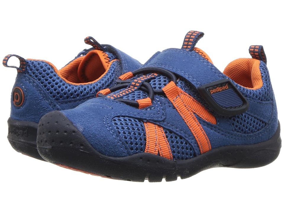pediped - Renegade Flex (Toddler/Little Kid) (Navy/Orange) Boys Shoes
