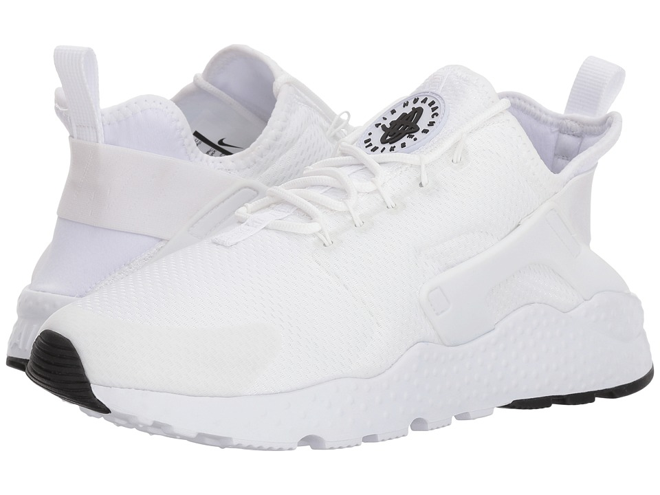 Nike Air Huarache Run Ultra (White/White/White/Black) Women's Running Shoes