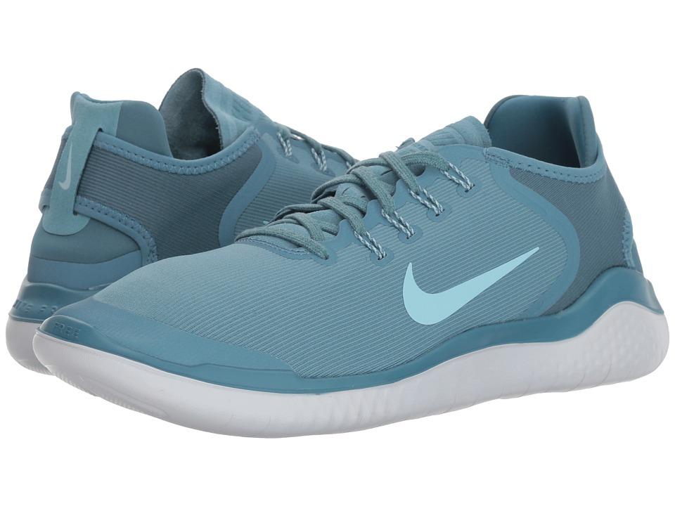 Nike - Free RN 2018 Sun Bleached (Noise Aqua/Ocean Blue/Pure Platinum) Mens Running Shoes