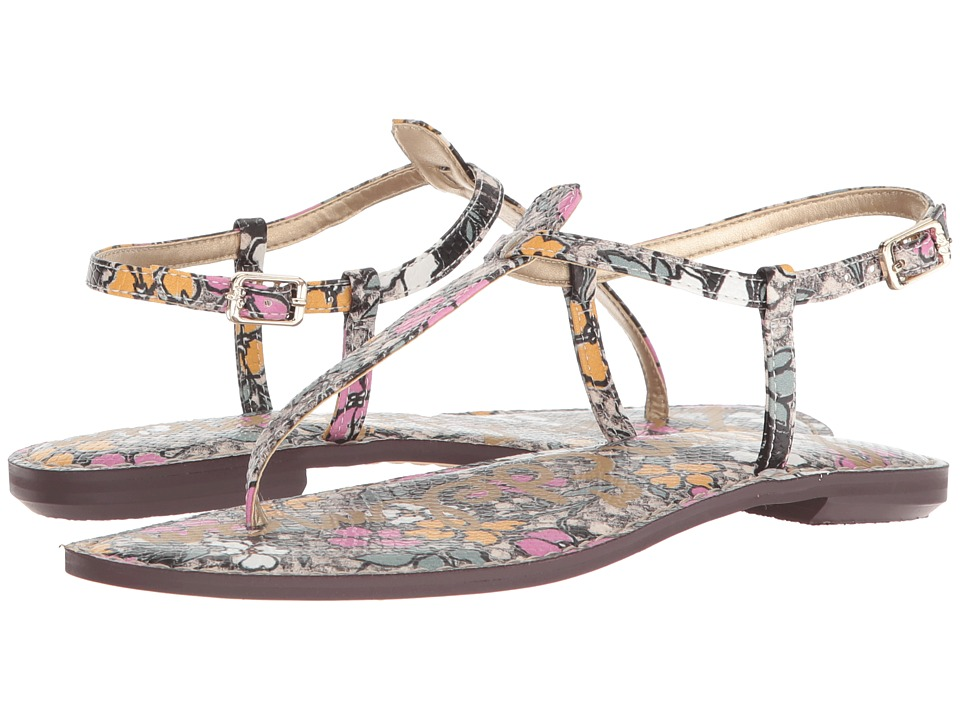 Sam Edelman Gigi (Bright Multi Retro Floral Print Snake) Sandals