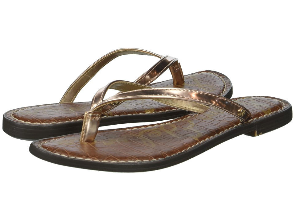 Sam Edelman Gracie (Oro Remato Liquid Metallic) Sandals
