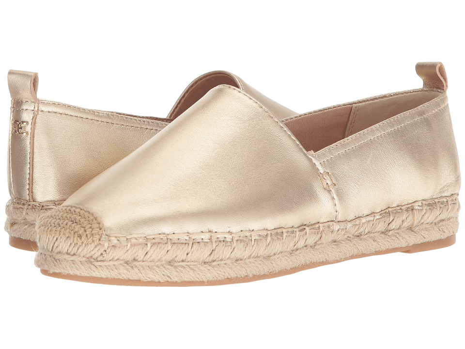 Sam Edelman Khloe (Molten Gold Soft Metallic Sheep Leather) Slip-On Shoes