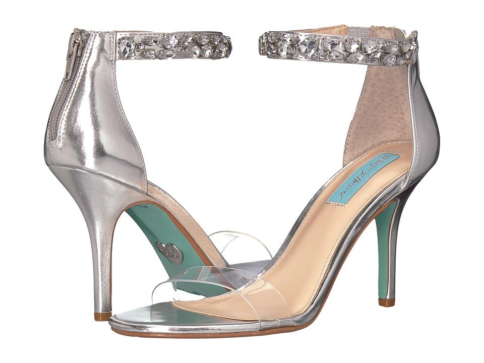 Blue by Betsey Johnson Drew (Silver Metallic) High Heels