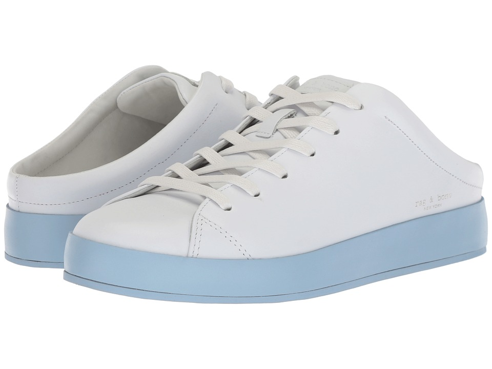 rag & bone - RB1 Mule (White/Chambray) Womens Shoes