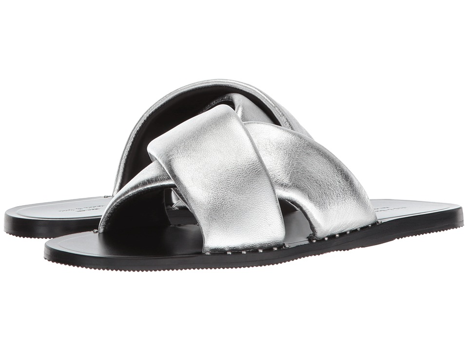 rag & bone - Keaton Slide (Silver) Womens Shoes
