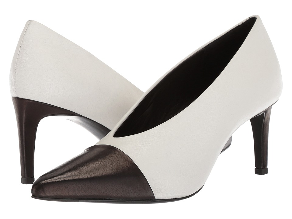 rag & bone - Beha Pump (White/Black) Womens Shoes