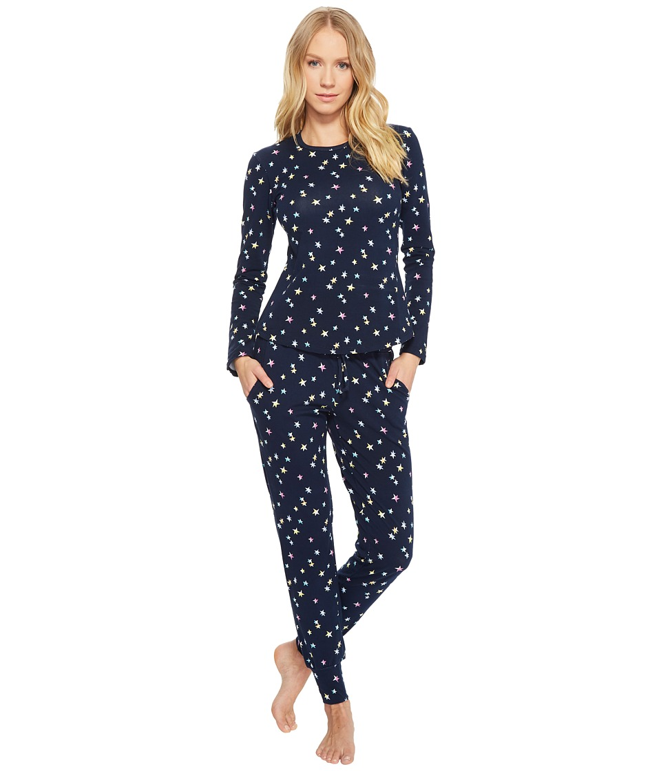 BedHead - Long Sleeve Crew Neck and Jogger Set (Twinkle) Womens Pajama Sets