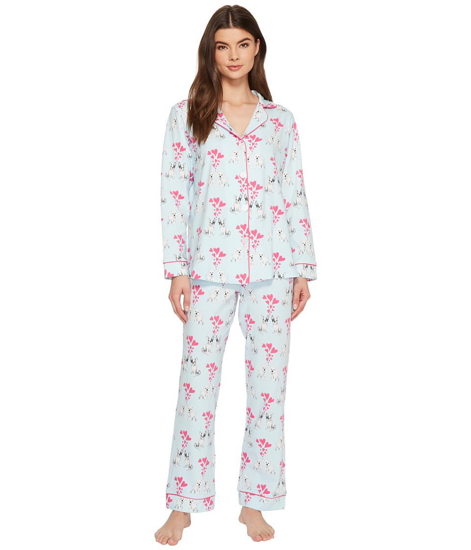 Tigi Hair Care Long Sleeve Classic Knit Two-Piece Pajama ...