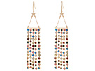 Steve Madden Casted Tassel Bar Star Fishhook Earrings