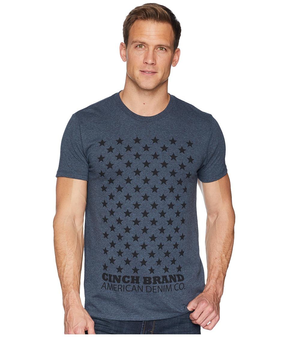 CINCH Short Sleeve Jersey Tee (Heathered Navy 1) Men's T ...