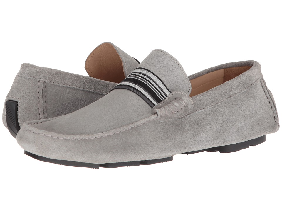 BUGATCHI - St. Tropez Driver (Grigio) Mens Moccasin Shoes