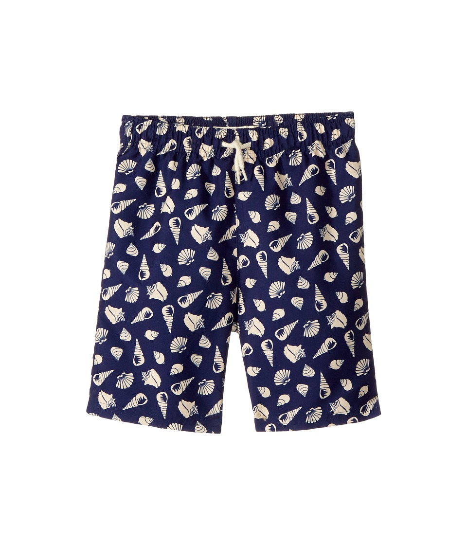 Appaman Kids Shell Print Mid Length Swim Trunks (Toddler/Little Kids/Big Kids) (Seashells) Boy