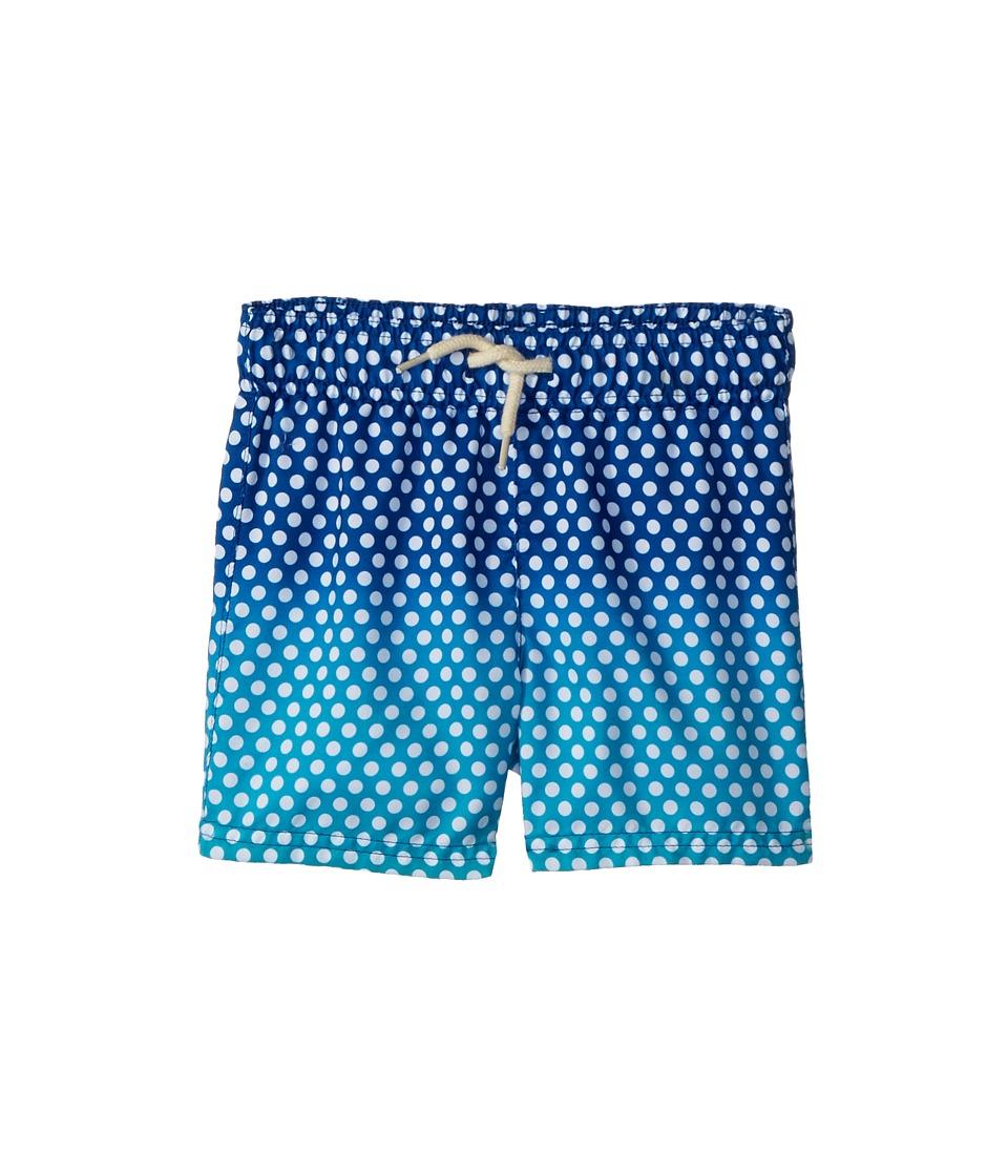 Appaman Kids - Ombre Dot Print Mid Length Swim Trunks