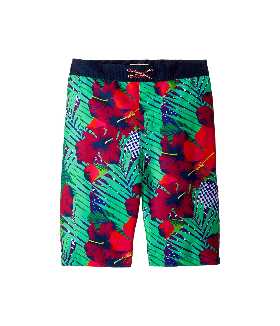 Appaman Kids - Hawaiian Print Swim Trunks (Toddler/Little Kids/Big Kids) (Neotropics) Boys Swimwear