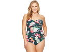 La Blanca Plus Size Beyond The Jungle Bandeau One-Piece