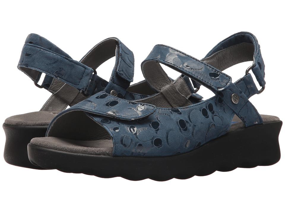 Wolky - Pichu (Blue Circles) Women's Sandals