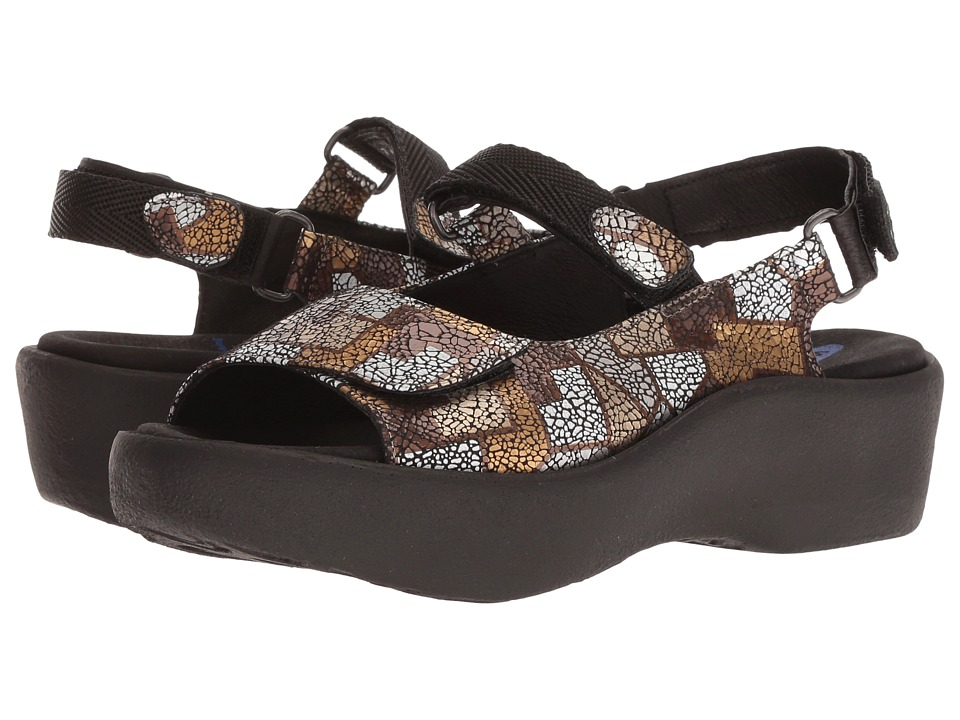 Wolky Jewel (Bronze Picasso Crash) Sandals