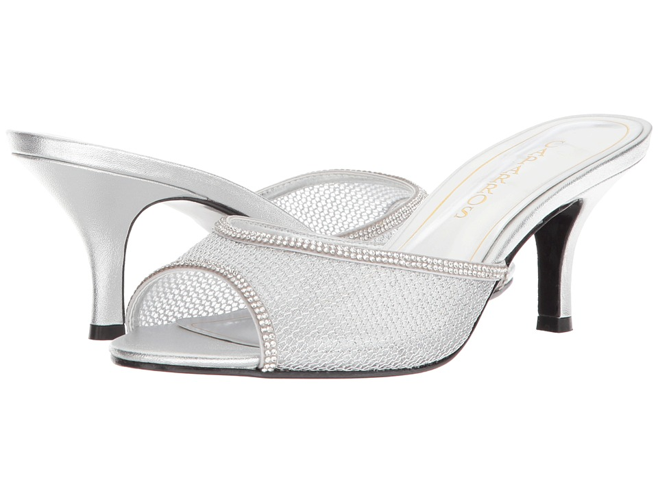 Caparros - Mambo (Silver Mesh) Womens 1-2 inch heel Shoes
