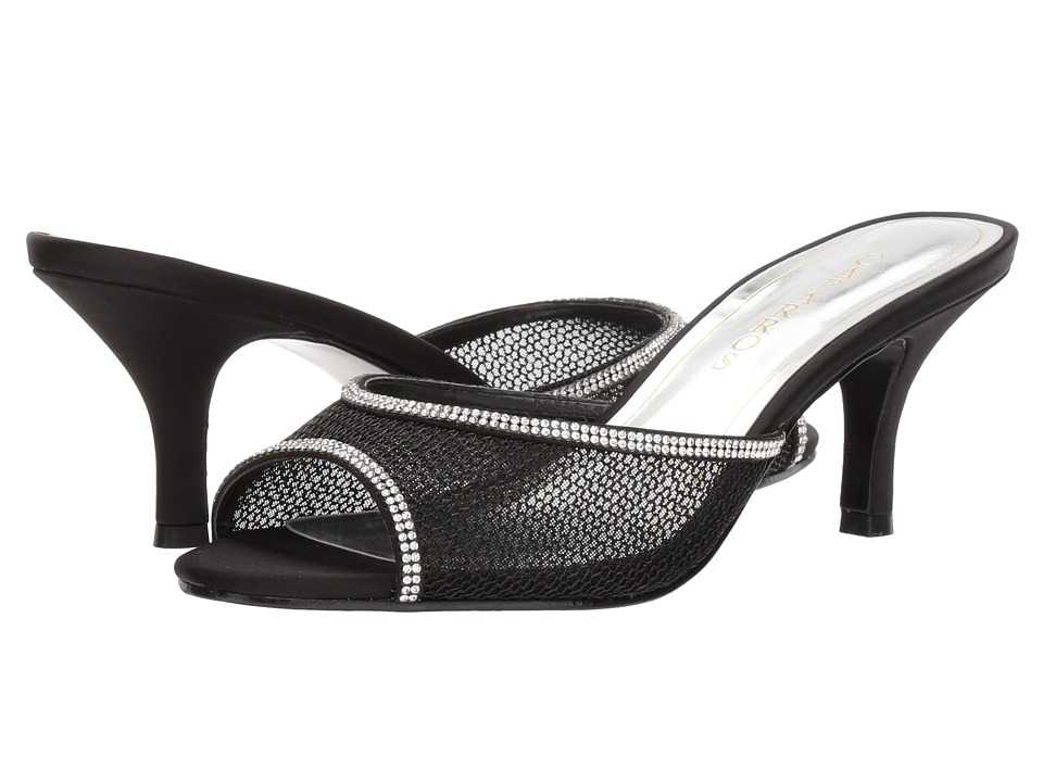 1950s Style Shoes Caparros - Mambo BlackClear Mesh Womens 1-2 inch heel Shoes $79.00 AT vintagedancer.com
