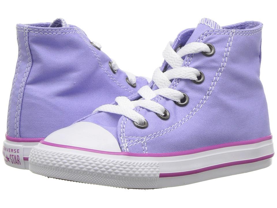 Converse Kids Chuck Taylor(r) All Star(r) Seasonal Hi (Infant/Toddler) (Twilight Pulse/Hyper Magenta/White) Girl