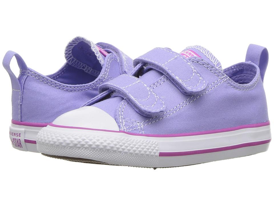 Converse Kids - Chuck Taylor(r) All Star(r) 2V Seasonal Ox (Infant/Toddler) (Twilight Pulse/Hyper Magenta/White) Girls Shoes