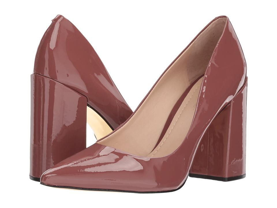 Massimo Matteo Block Heel Pump (Dusty Rose Patent) High Heels