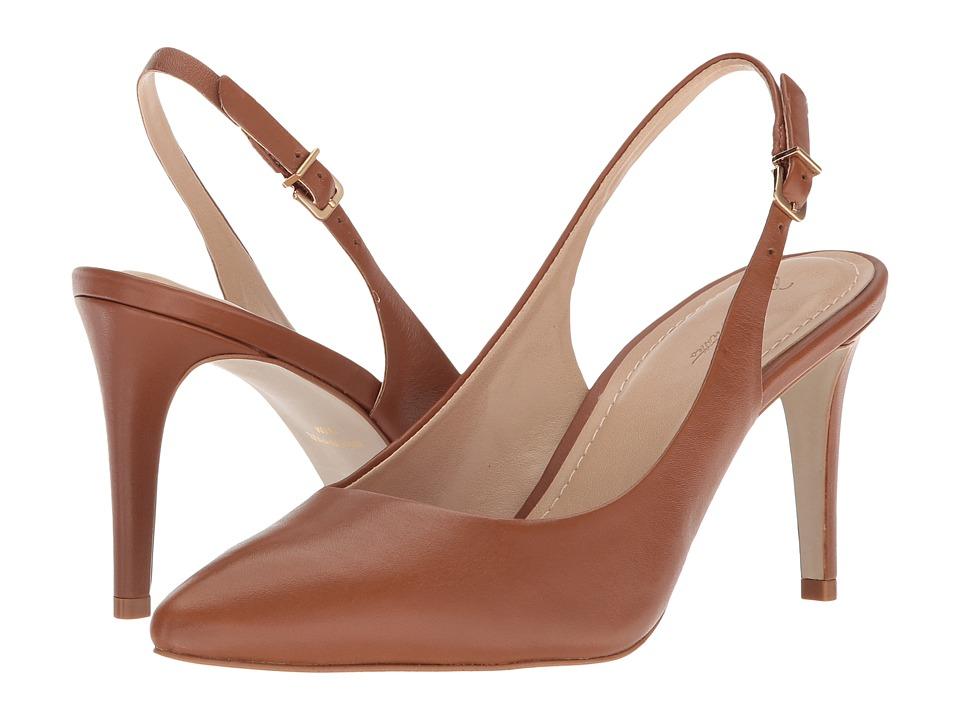 Massimo Matteo Pointy Sling Pump (Caramel) High Heels