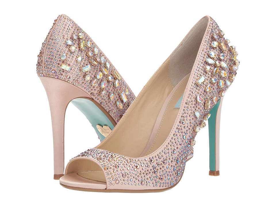 Blue by Betsey Johnson Brook (Nude Satin) High Heels