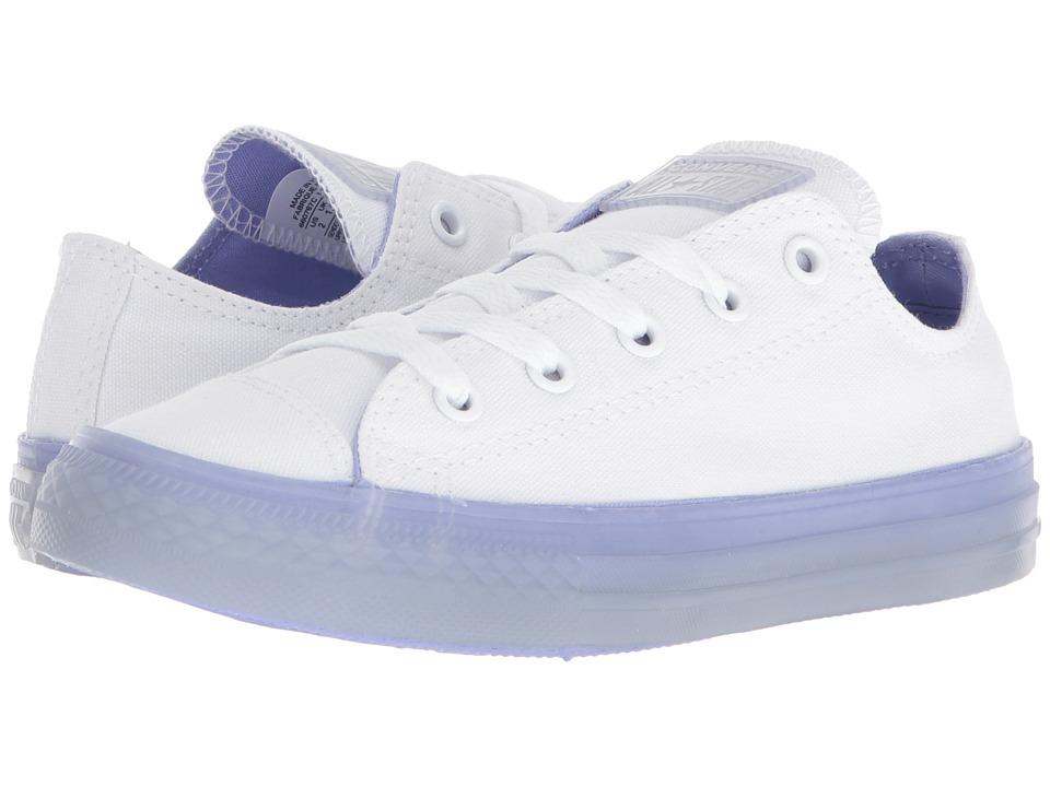 Converse Kids Chuck Taylor(r) All Star(r) Jelly Ox (Little Kid/Big Kid) (White/Twilight Pulse/Twilight Pulse) Girls Shoes