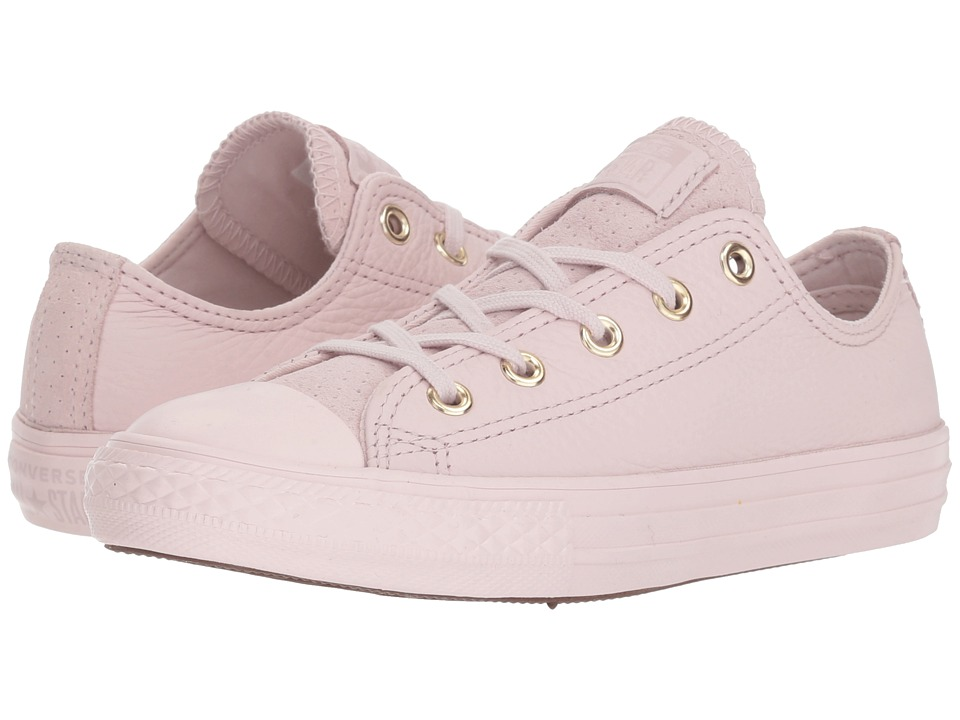 Converse Kids - Chuck Taylor(r) All Star(r) New Heritage Leather Ox (Little Kid/Big Kid) (Barely Rose/Navy/Barely Rose) Girls Shoes