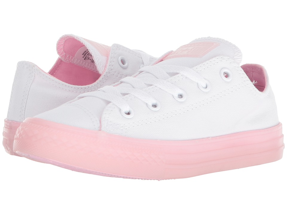 Converse Kids Chuck Taylor(r) All Star(r) Jelly Ox (Little Kid/Big Kid) (White/Cherry Blossom/Cherry Blossom) Girls Shoes
