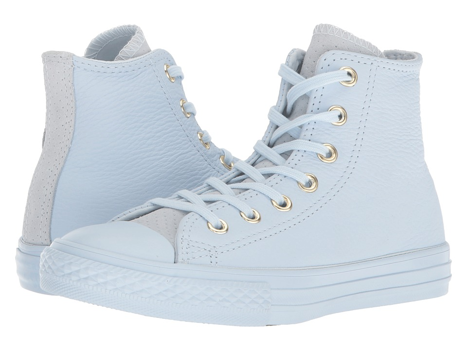 Converse Kids - Chuck Taylor(r) All Star(r) New Heritage Leather Hi (Little Kid/Big Kid) (Blue Tint/Gym Red/Blue Tint) Girls Shoes