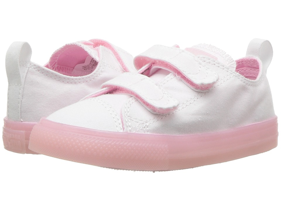 Converse Kids Chuck Taylor(r) All Star(r) 2V Jelly Ox (Infant/Toddler) (White/Cherry Blossom/Cherry Blossom) Girls Shoes