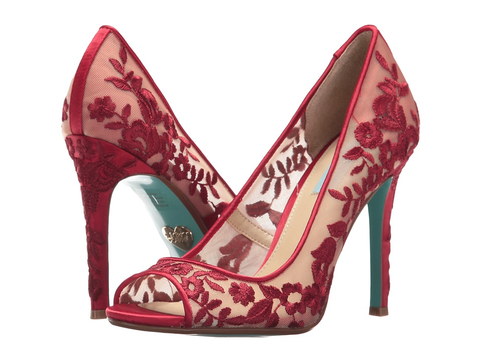 Blue by Betsey Johnson Adley (Red Fabric) High Heels