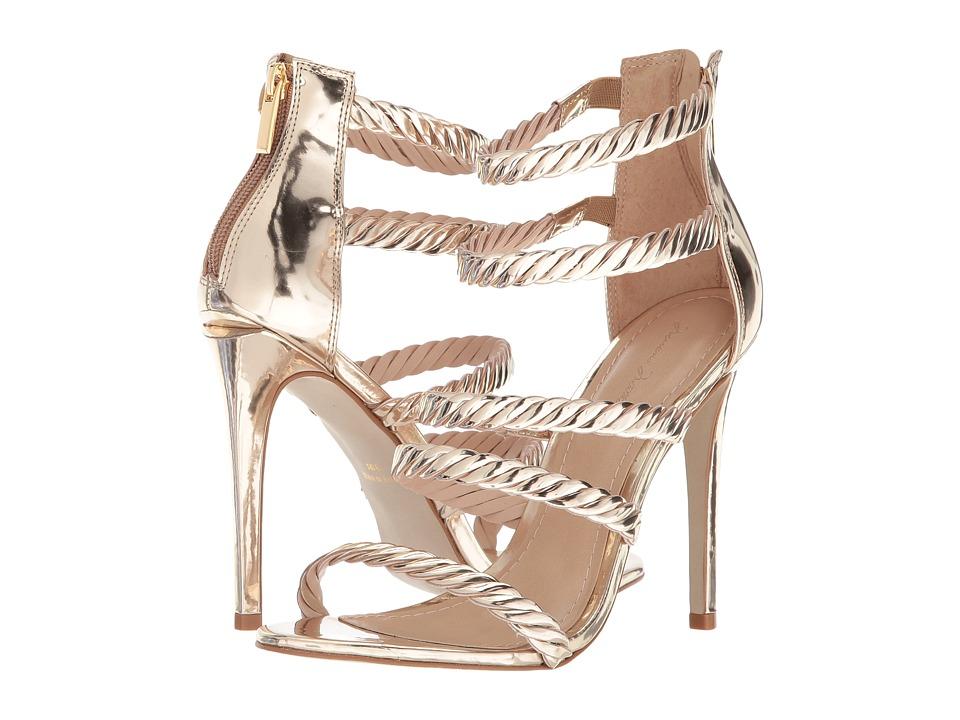Massimo Matteo 5-Strap Open Toe (Light Gold) High Heels