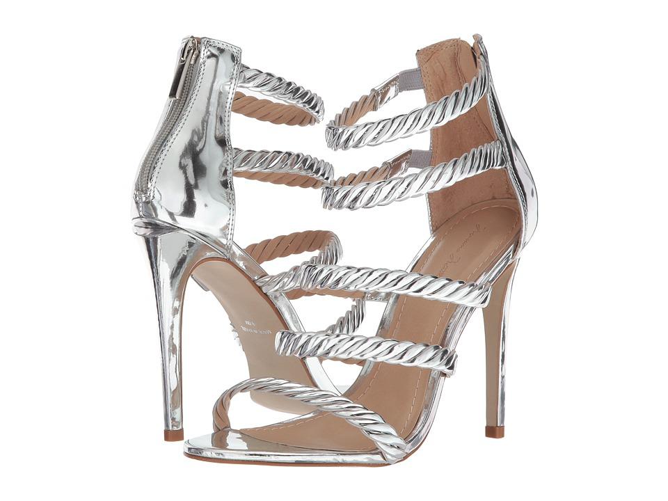 Massimo Matteo 5-Strap Open Toe (Silver) High Heels